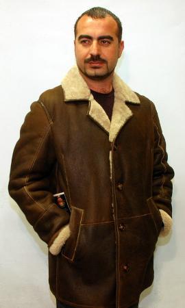 Kusadasi Market: Sheepskin Leather Fur Coat