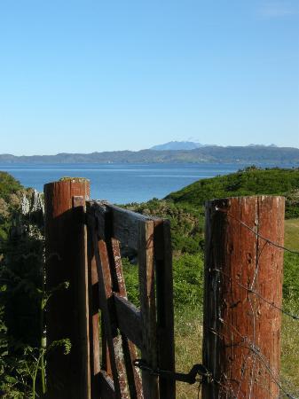 Camusdarach Beach: gate at site leading to beach