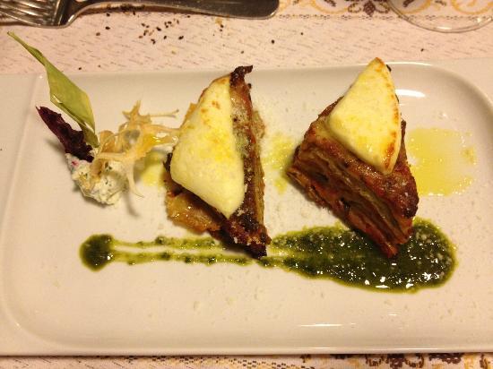 Eggplant timbale