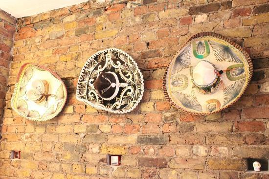 Picante Mexican Grill: Antique Sombreros