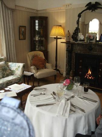 Ardtara Country House: Our special anniversary table for two overlooking the garden with roaring fire Bliss