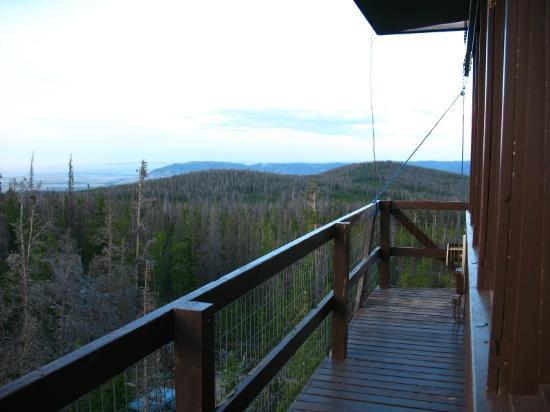 Spruce Mountain Fire Lookout Tower: View from the tower facing the NE