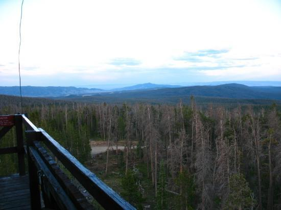 Spruce Mountain Fire Lookout Tower: View from Tower facing SE