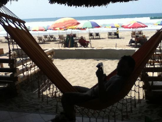 Dharma Beach Restaurant: Loved chilling on the hammock