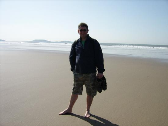 Rhossili Bay: My boyfriend Simon on Rhossili