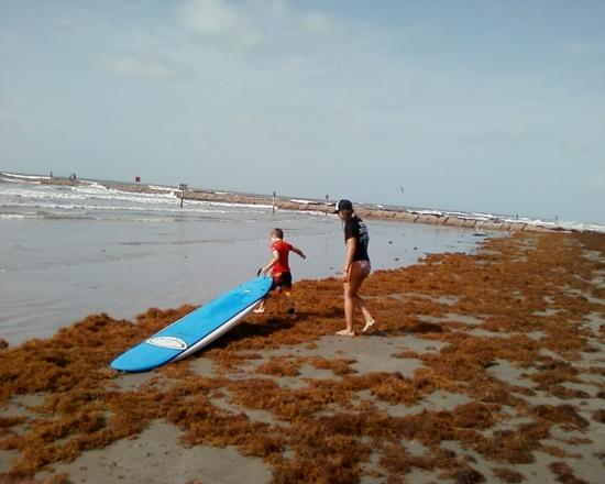 C-Sick Surfin': the little guy with his instructor