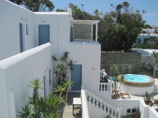 Hotel Carbonaki: Vista desde el balcón de nuestra habitación