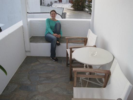 Hotel Carbonaki: Balcón