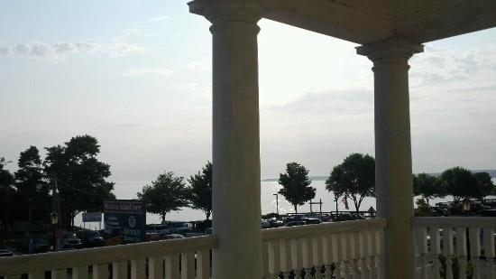 Colonial House Inn: A view of the lake from the upper veranda.