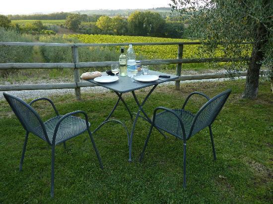 Montepulciano Country Resort: Achterterras (Poggio Olivo)