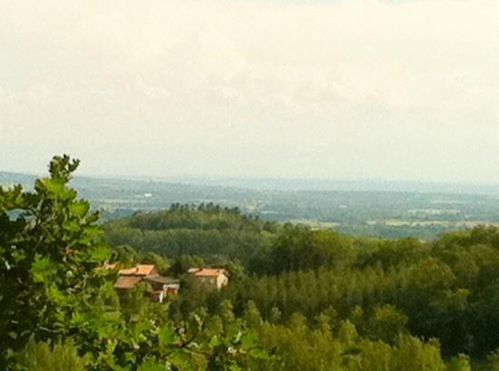 Cap de Castel : View over the Laurengais Plain This taken from the Hike