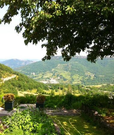 Chateau de Rochessauve: View from the Chateau's garden, down the valley