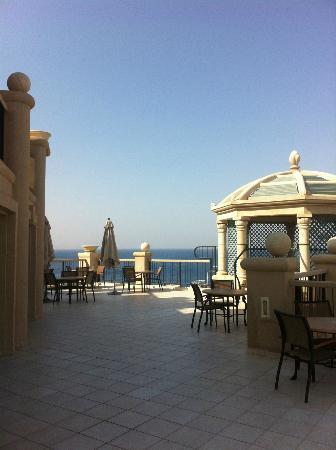 Queen of Sheba Eilat: Terasse der Exective Lounge