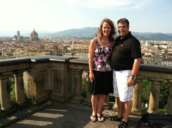 Tuscany in Tour: Picture from the terrace at Piazzi Michel Angelo