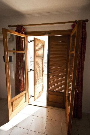 Razis Apartments: Great wooden shutters and doors.
