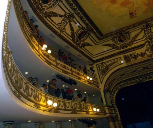 Teatro Macedonio de Alcalá: Upper balconies, taken at a recent Lila Downs concert