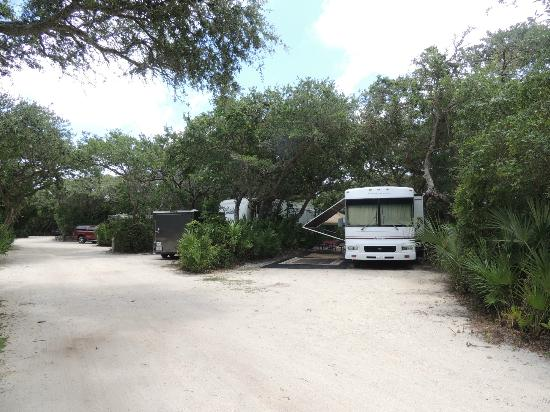 North Beach Camp Resort: Campsite at North Beach Campground in St. Augustine, FL