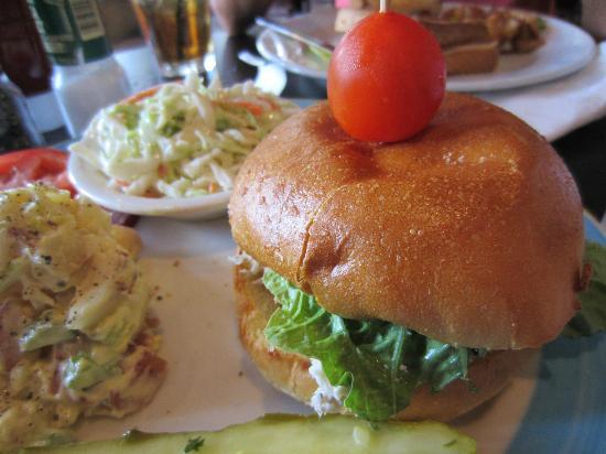 Sweet Tea's : Chicken salad sandwich, cole slaw and potato salad