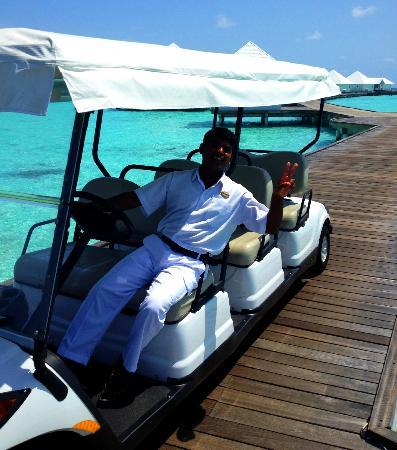 دياموندز أثوروجا بيتش آند ووتر فيلاز: cart to save hot feet and added luxury 