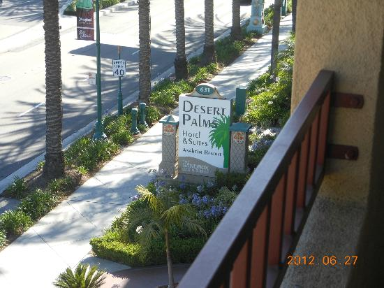 Desert Palms Hotel & Suites: Sign View from Balcony - Saraha Suite