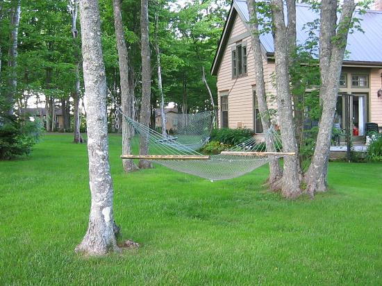 Cavendish Maples Cottages: back view of front office and cottage grounds