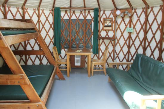 South Beach State Park: Inside the Yurt
