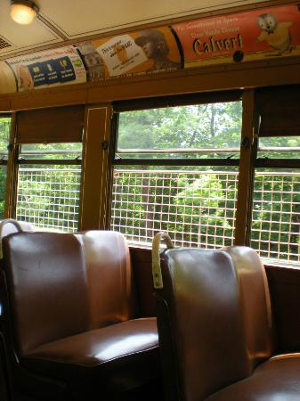 Riding the streetcar at Baltimore Streetcar Museum