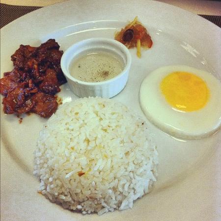 Avitel Hotel: Beef Tapa- My breakfast