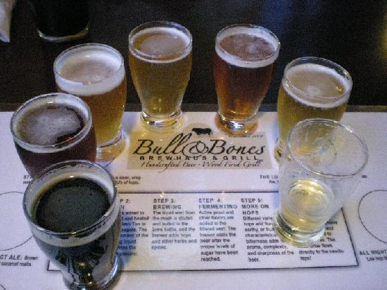 Bull & Bones Brewhaus & Grill : Bull& Bones is a great microbrewery with a wide variety of brewing styles and flavors.