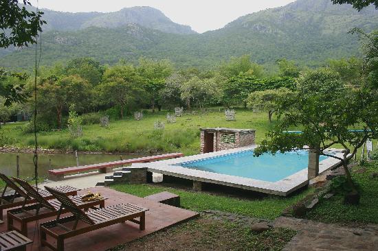 Jungle Hut: pool under the sky