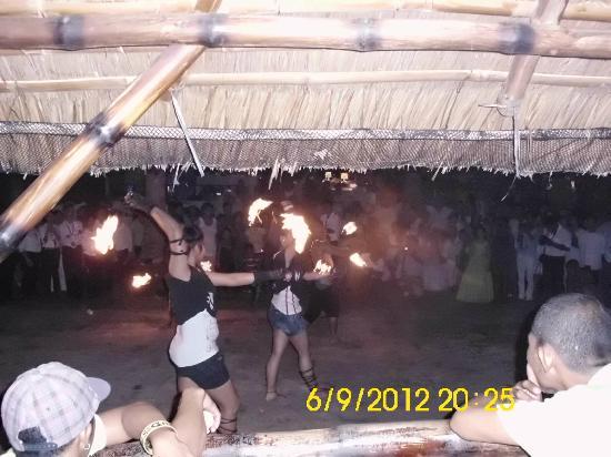 Sarangani Island: fire dancing...