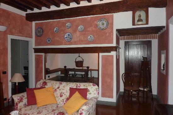 Villa Vignacce: la estufa a leña, restaurada casa, de dos siglos!!!