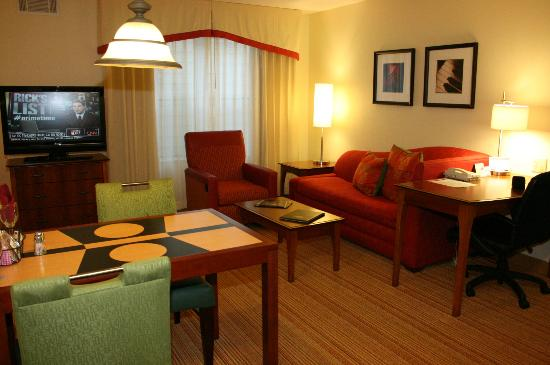 Residence Inn by Marriott Huntsville: sitting area/fold out sofa