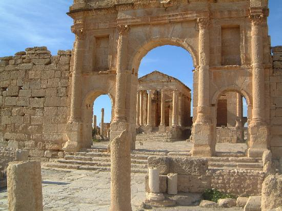 Subaytilah, Tunisia: The Temples through the Forum Gate