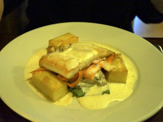 Coast Restaurant: Halibut Steak with Fondant Potato  £17.50