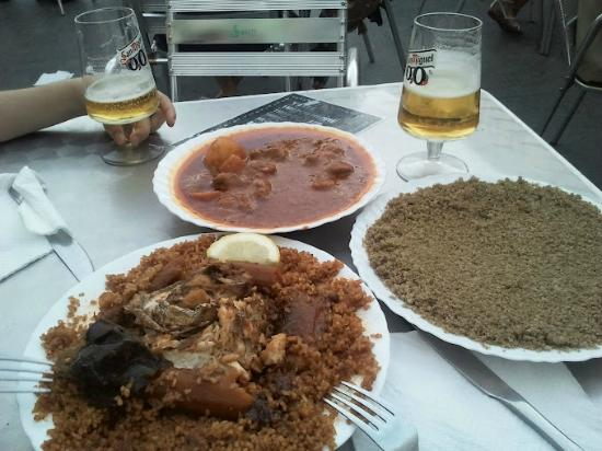 Baobab: arroz con pescado y carne con cuscus