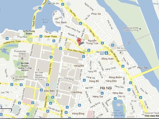 Hotel map - Picture of Santa Barbara Hotel and Spa, Hanoi - TripAdvisor
