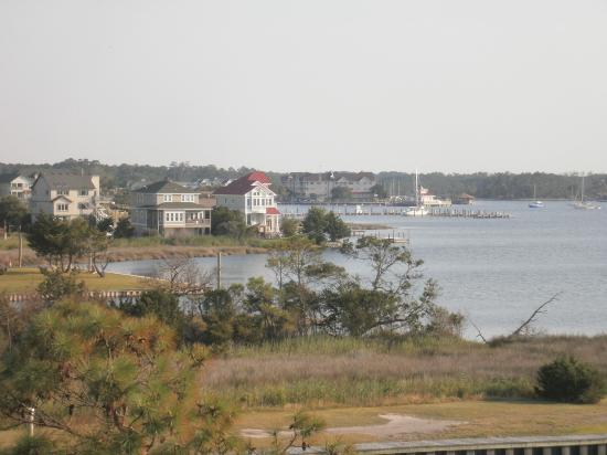 The Burrus House Inn: View from Main deck of Beatrice Estelle
