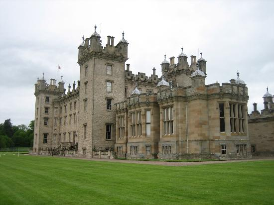 Floors Castle: rear elevation - overlooking the river
