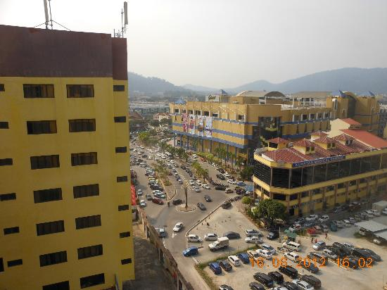 Grand Continental Kuantan: City view from the 11th floor room.