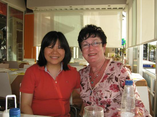 Golden Dragon: Lucy and my wife Pat