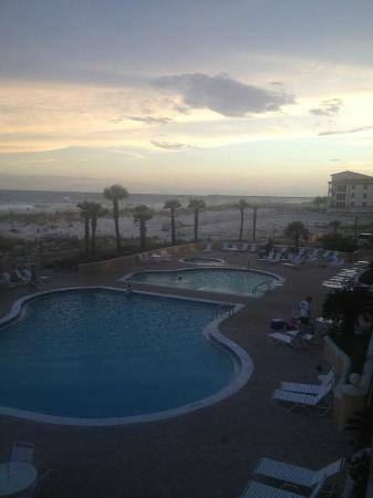 Emerald Isle: View of pool and beach at Sundown