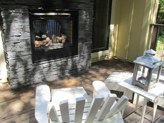 Farmhouse Inn & Restaurant: Dual fireplace
