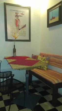 Cafe Esperanza: Inside this tiny cafe...