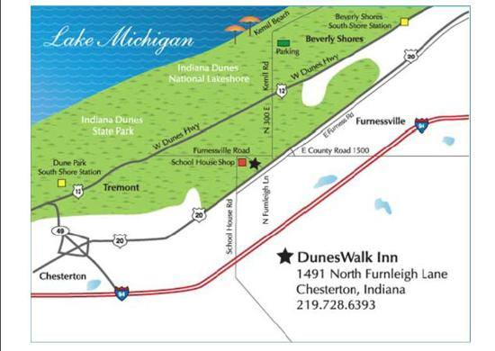 ‪‪DunesWalk Inn‬: Location Map‬
