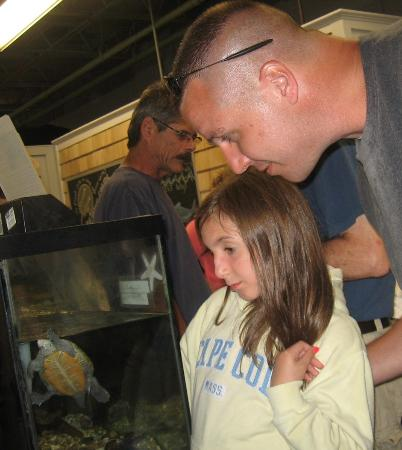 Woods Hole Science Aquarium: Sierra with her Dad :)