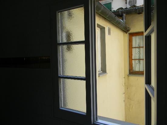 Panella's Residence: window in hallway of suite/ room