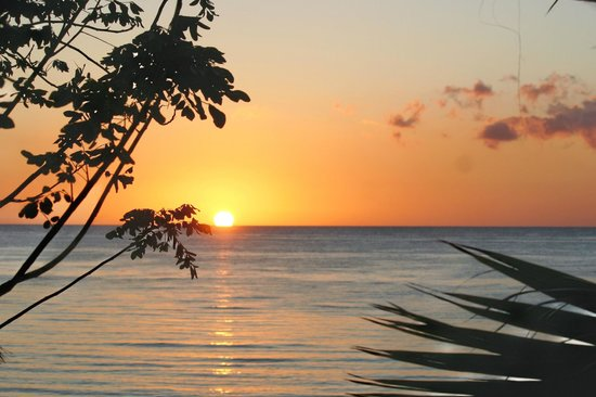 Residencias Reef Condos : Amazing sunset from veranda