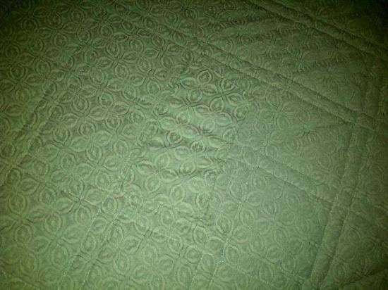 Villa Roma Resort and Conference Center: patched bedspread, Villa Roma