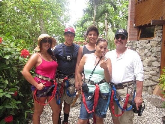 The Hideaway Hotel Playa Samara: Canopy tour zip line!